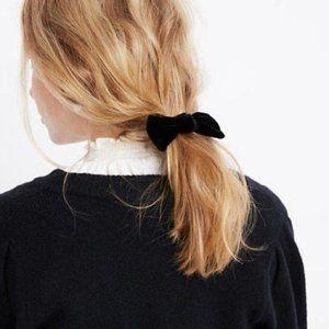 NWT Madewell Velvet Bow Barrette Hair Pin